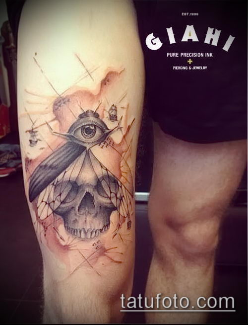 фото тату муха (значение) - пример интересного рисунка тату - 016 tatufoto.com