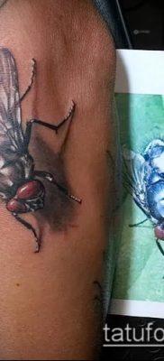 фото тату муха (значение) – пример интересного рисунка тату – 024 tatufoto.com