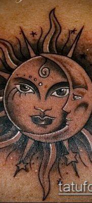 фото тату солнце и луна (значение) – пример интересного рисунка тату – 009 tatufoto.com