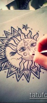 фото тату солнце и луна (значение) – пример интересного рисунка тату – 011 tatufoto.com