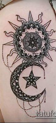 фото тату солнце и луна (значение) – пример интересного рисунка тату – 017 tatufoto.com