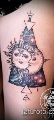 фото тату солнце и луна (значение) – пример интересного рисунка тату – 027 tatufoto.com