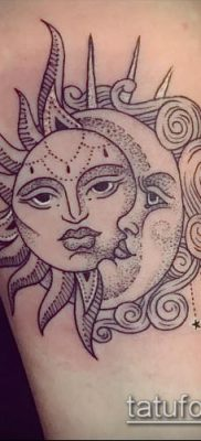 фото тату солнце и луна (значение) – пример интересного рисунка тату – 036 tatufoto.com