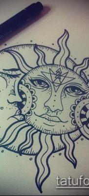 фото тату солнце и луна (значение) – пример интересного рисунка тату – 039 tatufoto.com