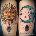 фото тату солнце и луна (значение) - пример интересного рисунка тату - 045 tatufoto.com