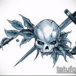 эскиз военных тату №673 - крутой вариант рисунка, который хорошо можно использовать для переработки и нанесения как военно морские тату