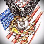 эскиз военных тату №476 - прикольный вариант рисунка, который хорошо можно использовать для переработки и нанесения как тату военно морского флота
