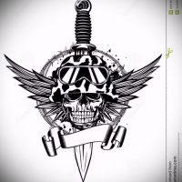Эскизы военных тату
