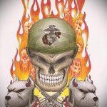 эскиз военных тату №37 - эксклюзивный вариант рисунка, который удачно можно использовать для переработки и нанесения как тату военная разведка летучая мышь