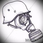 эскиз военных тату №456 - эксклюзивный вариант рисунка, который хорошо можно использовать для доработки и нанесения как картинка тату летучей мыши военное