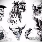 эскиз военных тату №619 - эксклюзивный вариант рисунка, который легко можно использовать для преобразования и нанесения как тату военная разведка