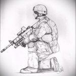 эскиз военных тату №149 - интересный вариант рисунка, который успешно можно использовать для переделки и нанесения как картинка тату летучей мыши военное
