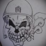 эскиз военных тату №108 - эксклюзивный вариант рисунка, который легко можно использовать для преобразования и нанесения как тату военная разведка летучая мышь