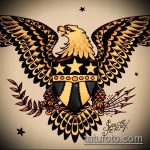 эскиз военных тату №745 - классный вариант рисунка, который легко можно использовать для переработки и нанесения как военно морские тату