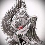 эскиз военных тату №360 - классный вариант рисунка, который успешно можно использовать для преобразования и нанесения как тату военно морского флота
