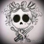 эскиз тату бантик №321 - эксклюзивный вариант рисунка, который удачно можно использовать для переделки и нанесения как тату бантики на бедрах