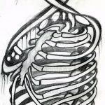 эскиз тату бантик №524 - прикольный вариант рисунка, который хорошо можно использовать для переделки и нанесения как тату бантики сзади