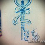 эскиз тату бантик №365 - прикольный вариант рисунка, который хорошо можно использовать для переделки и нанесения как тату бантики сзади