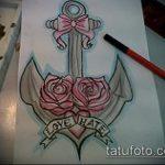 эскиз тату бантик №849 - эксклюзивный вариант рисунка, который удачно можно использовать для переработки и нанесения как тату бантики под попой