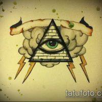 Эскизы тату глаз в треугольнике