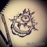 эскиз тату глаз в треугольнике №281 - интересный вариант рисунка, который легко можно использовать для переделки и нанесения как тату глаз в треугольнике на затылке