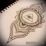 эскиз тату глаз в треугольнике №963 - интересный вариант рисунка, который легко можно использовать для переделки и нанесения как тату глаз в треугольнике на затылке