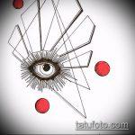 эскиз тату глаз в треугольнике №196 - уникальный вариант рисунка, который легко можно использовать для преобразования и нанесения как тату глаз в треугольнике на кулаке