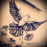 Эскизы тату голубь