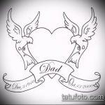 эскиз тату голубь №904 - крутой вариант рисунка, который удачно можно использовать для переработки и нанесения как тату белый голубь