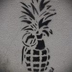 эскиз тату граната №904 - эксклюзивный вариант рисунка, который удачно можно использовать для преобразования и нанесения как тату гранат фрукт