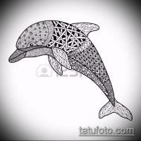 Эскизы тату дельфин