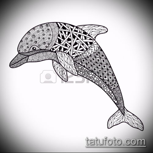 Эскизы дельфинов тату 7