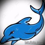 эскиз тату дельфин №125 - классный вариант рисунка, который успешно можно использовать для переработки и нанесения как татуировка дельфин и солнце