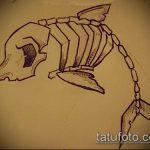 эскиз тату дельфин №981 - уникальный вариант рисунка, который легко можно использовать для доработки и нанесения как дельфин татуировка на ноге