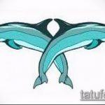 эскиз тату дельфин №17 - интересный вариант рисунка, который успешно можно использовать для преобразования и нанесения как татуировка дельфин на запястье