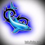 эскиз тату дельфин №215 - уникальный вариант рисунка, который легко можно использовать для переработки и нанесения как татуировка дельфин на руке