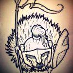 эскиз тату ежик №632 - уникальный вариант рисунка, который успешно можно использовать для доработки и нанесения как татуировка ежик с шариком