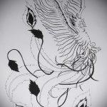 эскиз тату жар птица №116 - интересный вариант рисунка, который успешно можно использовать для переделки и нанесения как татуировка жар птица на спине
