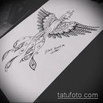 эскиз тату жар птица №424 - достойный вариант рисунка, который удачно можно использовать для преобразования и нанесения как татуировка жар птица на руке