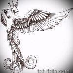 эскиз тату жар птица №249 - уникальный вариант рисунка, который успешно можно использовать для переработки и нанесения как татуировка жар птица на животе
