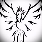 эскиз тату жар птица №255 - достойный вариант рисунка, который удачно можно использовать для переделки и нанесения как татуировка жар птица на животе