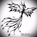 эскиз тату жар птица №521 - достойный вариант рисунка, который легко можно использовать для преобразования и нанесения как татуировка жар птица на руке