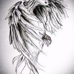 эскиз тату жар птица №948 - достойный вариант рисунка, который удачно можно использовать для преобразования и нанесения как татуировка жар птица на спине