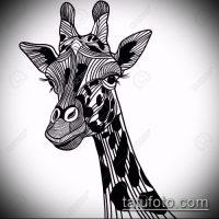 Эскизы тату жираф