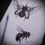 эскиз тату жук №835 - классный вариант рисунка, который хорошо можно использовать для доработки и нанесения как татуировка жук на плече