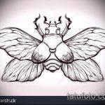 эскиз тату жук №248 - интересный вариант рисунка, который успешно можно использовать для переработки и нанесения как татуировка жук на зоне