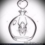 эскиз тату жук №22 - интересный вариант рисунка, который удачно можно использовать для переделки и нанесения как татуировка жук на запястье