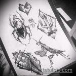 эскиз тату жук №862 - эксклюзивный вариант рисунка, который хорошо можно использовать для переработки и нанесения как татуировка жук на среднем пальце