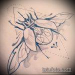 эскиз тату жук №919 - крутой вариант рисунка, который успешно можно использовать для переработки и нанесения как татуировка жук в клетке