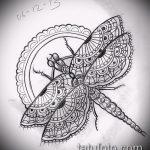 эскиз тату жук №211 - крутой вариант рисунка, который удачно можно использовать для доработки и нанесения как татуировка жук на руке